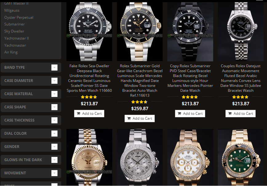 replica rolex watches sold in us